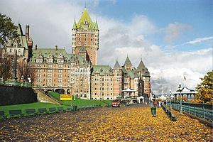 Canada's grand railway hotels - The Château Frontenac in Quebec City.