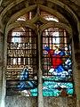 Chaumont-en-Vexin (60), église Saint-Jean-Baptiste, verrière n° 101 - Apparition du Sacré-Cœur à sœur Marguerite-Marie.JPG
