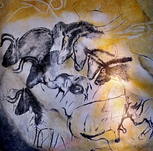 Prehistoric Europe - Aurignacian cave paintings, Chauvet Cave
