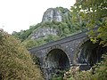 Chee Dale with Monsal Trail Viaduct - geograph.org.uk - 452594.jpg