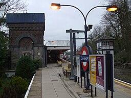 Chesham station garden and water tower