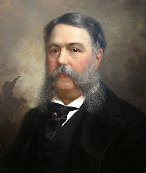 Presidency of Chester A. Arthur - Ole Peter Hansen Balling's 1881 portrait of Chester A. Arthur
