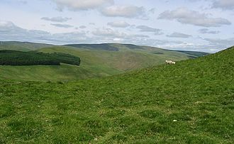 Windy Gyle - Windy Gyle, seen from the southwest ridge of Shillhope Law