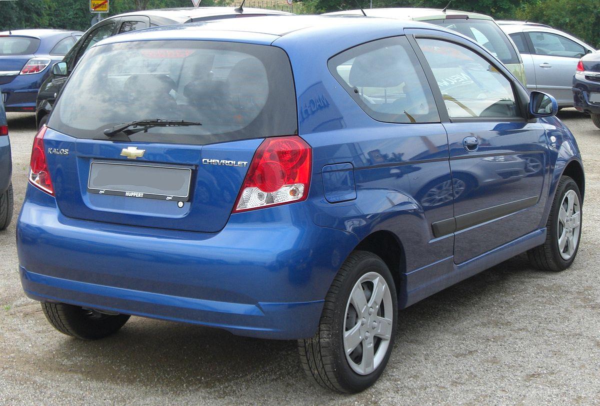 File Chevrolet Kalos Facelift Rear Jpg Wikimedia Commons