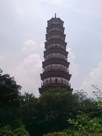 Chigang Pagoda - A close up picture of the pagoda.