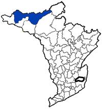 తూర్పు గోదావరి పటములో చింతూరు మండలం స్థానం