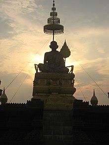 Tượng Samdech Chuon Nath tại Phnom Penh.