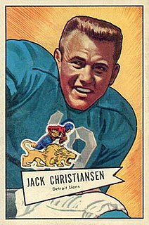 Jack Christiansen American football player and coach