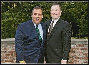 John H. Frey - New Jersey Governor Chris Christie (left) and John H Frey   October 8, 2015
