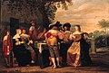 Christoffel Jacobsz. van der Lamen - Elegant company merrymaking on a terrace.jpg