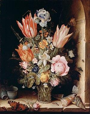 Christoffel van den Berghe - Still Life with Flowers in a Vase, Philadelphia Museum of Art, 1617