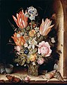 Christoffel van den Berghe, Dutch (active Middelburg), active c. 1617 - after 1628 - Still Life with Flowers in a Vase - Google Art Project.jpg