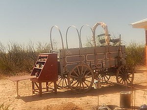 Chuckwagon - Chuckwagon still used to prepare food at gatherings in Pecos County, Texas