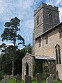Church tower and porch, St Cross South Elmham - geograph.org.uk - 863856.jpg