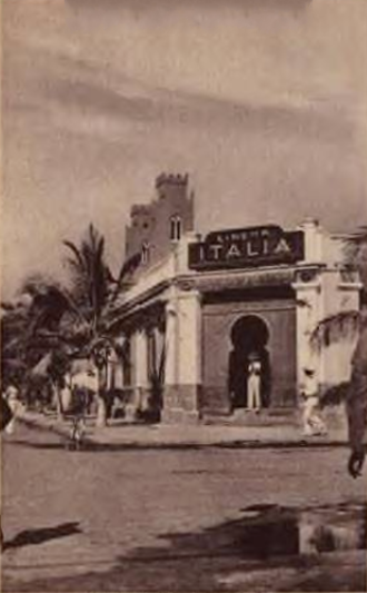 Cinema of Somalia - The Cinema Italia in 1937, the first movie theater in Mogadishu and Somalia.