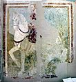 Cingoli, sant'esuperanzio, interno, affreschi, santo a cavallo.jpg