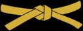 Cinturon Oro gold belt Universal Taekwondo utd Mochi696 svg.png
