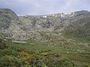 Español: Circo glaciar de Peñalara, ubicado en...