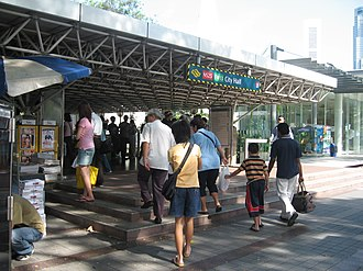 City Hall MRT station - An entrance to the station.