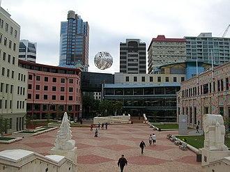 Te Ngākau Civic Square - Te Ngākau Civic Square in February 2010.