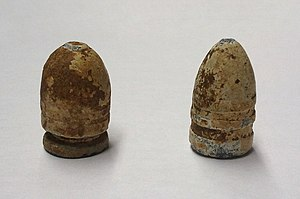Cylindro-conoidal bullet - Two Civil War cylindro-conoidal bullets