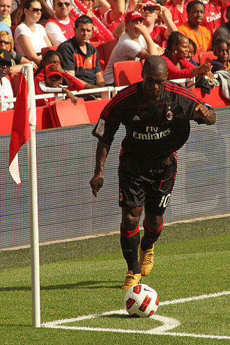 Clarence Seedorf - Seedorf with Milan in a friendly against Arsenal.
