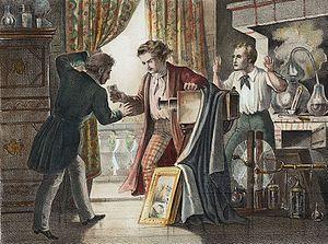 Claude Niépce - Chromolithograph depicting Louis Jacques Mande Daguerre and Claude Félix Abel Niépce.