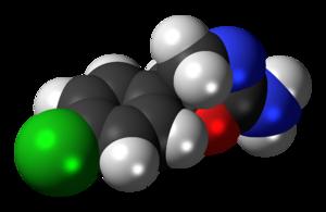 Clominorex - Image: Clominorex molecule spacefill