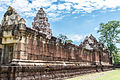 Close up, the outer walls of Prasat Sadok Kok Thom in Thailand..jpg