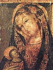 Vierge à l'Enfant avec calvaire