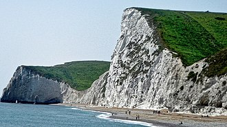 Jurassic Coast - Coastal rock in the Jurassic Coast