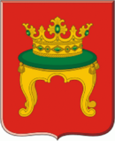 Tver's coat of arms depicts grand ducal crown placed on a throne.