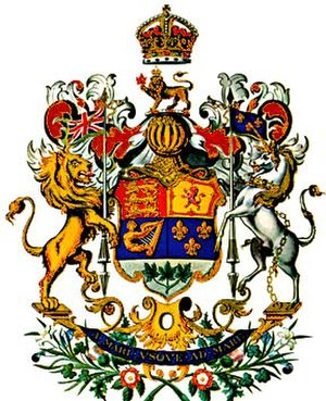 National colours of Canada - Image: Coat of arms of Canada (1923)