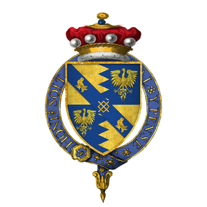 Thomas Audley, 1st Baron Audley of Walden - Image: Coat of arms of Sir Thomas Audley, 1st Baron Audley of Walden, KG