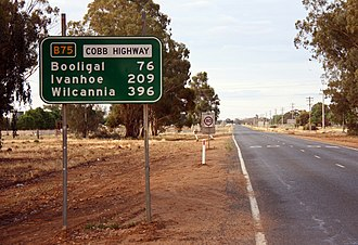 Cobb Highway - Image: Cobb Highway at Hay NSW road to Ivanhoe 1