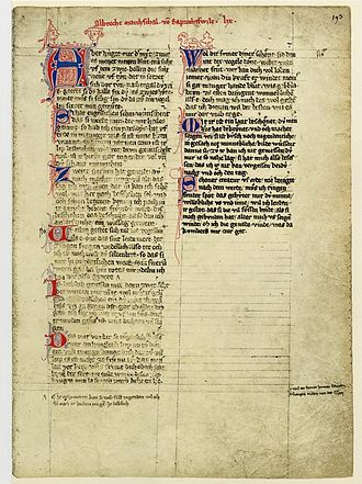 Codex - Manuscript, Codex Manesse. Most manuscripts were ruled with horizontal lines that served as the baselines on which the text was entered.