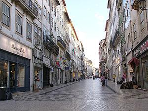 Ferreira Borges Street in central Coimbra, Por...
