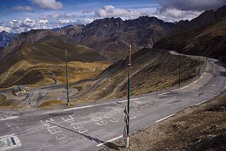 Tom Simpson - Simpson crashed descending the Col du Galibier (pictured) during stage sixteen of the 1966 Tour de France, injuring his arm and forcing him to abandon the Tour the next day.