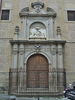 Real Colegio de Doncellas Nobles - Portal of the church of the College.
