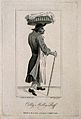Colly Molly Puff, carrying a basket, perhaps of food. Engrav Wellcome V0007479.jpg