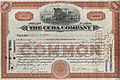Common Stock The Cuba Company 1933.jpg