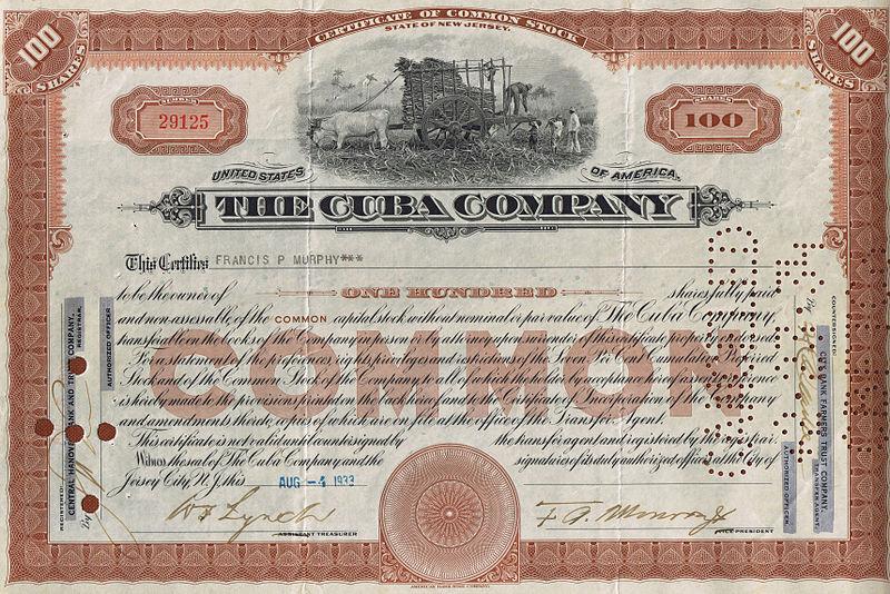 File:Common Stock The Cuba Company 1933.jpg