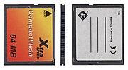 Drei Ansichten einer CompactFlash-Typ-I-Karte