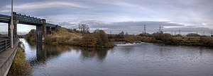River Mersey - The River Mersey empties into the Manchester Ship Canal at Irlam