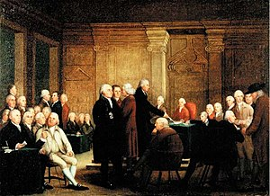 Edward Savage (artist) - Atwater Kent Museum, Philadelphia Congress Voting Independence (1784-1801)