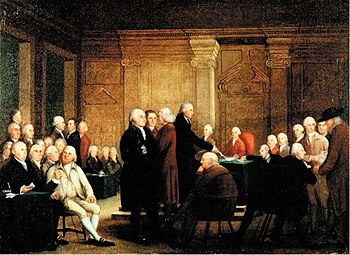 Congress Voting Independence, a depiction of t...