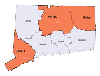 2nd Connecticut Regiment - Recruitment areas