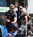 Conrad Smith and Ma'a Nonu at the 2015 RWC All Blacks victory parade in Wellington.jpg