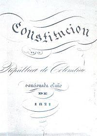 la constitucion de cucuta: