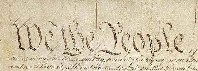 From commons.wikimedia.org: Constitution We the People {MID-70186}